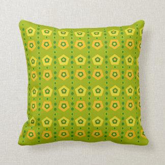 Travesseiros verdes vibrantes almofada