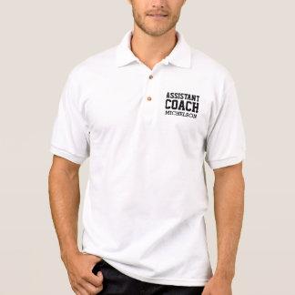 Treinador assistente personalizado t-shirt polo