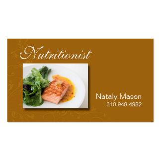 """Treinador da comida do """"nutricionista"""", saudável, cartão de visita"""