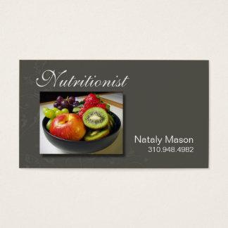 """Treinador da comida do """"nutricionista"""", saudável, cartão de visitas"""