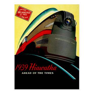 Trem aerodinamizado Hiawatha do vintage Cartão Postal