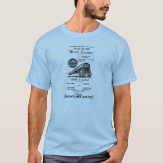 Trem azul central do cometa de New-jersey Camisetas
