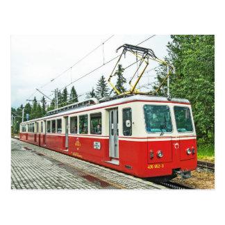 Trem da roda da roda denteada de Slovakia em Cartão Postal