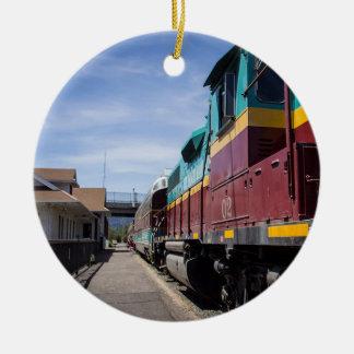 Trem do Natal Ornamento De Cerâmica