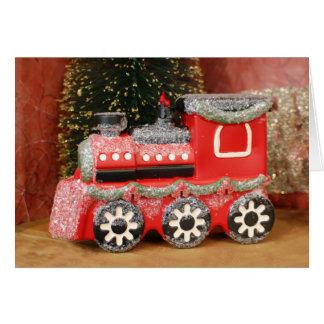 Trem festivo do feriado do Natal Cartão Comemorativo