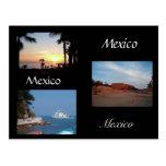 três cenas de México Cartoes Postais