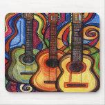 Três guitarra mousepad