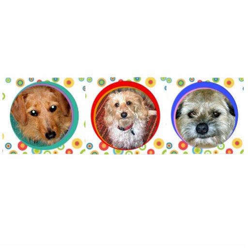 três ímãs do cachorrinho escultura fotos