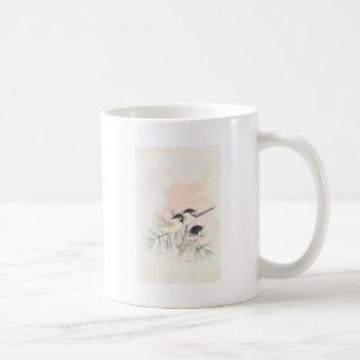 Três pássaros caneca de café