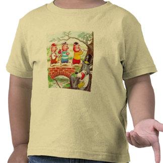 Três porcos pequenos camiseta