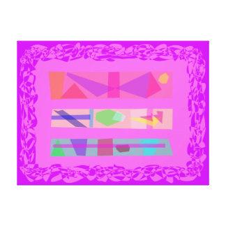 Três quadrilátero impressão em tela canvas
