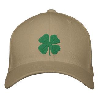 Trevo bordado da folha do irlandês quatro bonés bordados