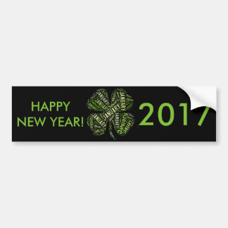 Trevo da folha 2017 de janeiro do feliz ano novo adesivo para carro