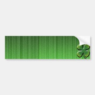Trevo da folha do verde quatro adesivo para carro