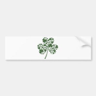 Trevo irlandês do trevo do Dia de São Patrício Adesivo