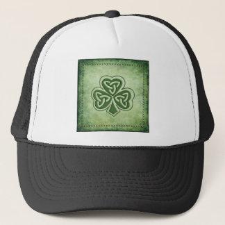 Trevo na moda do irlandês do grundge do vintage boné