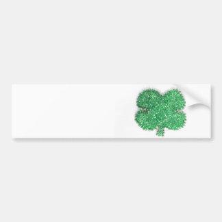 Trevo verde do grânulo adesivo para carro