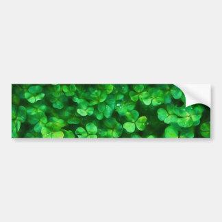 Trevos verdes irlandeses celtas afortunados adesivo para carro
