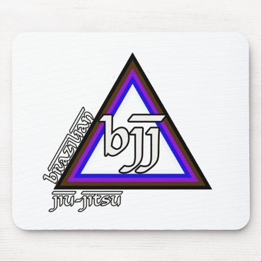 Triângulo de Jiu Jitsu BJJ do brasileiro do progre Mousepad