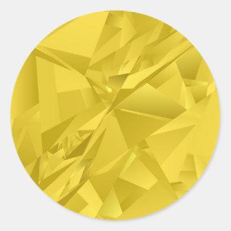 Triângulos abstratos do ouro adesivo