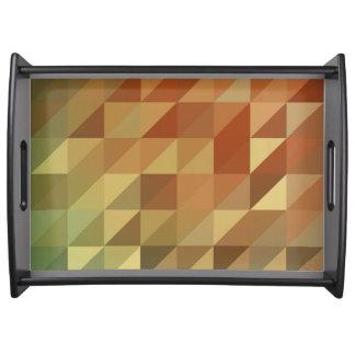 Triângulos abstratos bandeja de servir