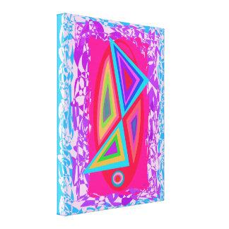 Triângulos coloridos arco-íris impressão de canvas esticada