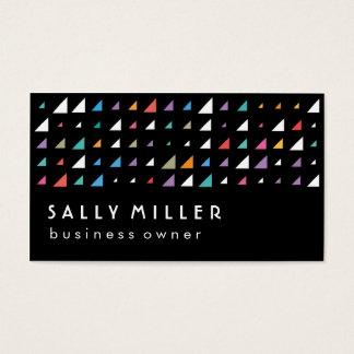 triângulos coloridos cartão de visita