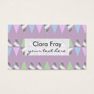 triângulos geométricos claros elegantes da folha cartão de visitas