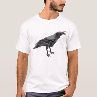 Triângulos geométricos do cinza do Cubist do corvo Camiseta