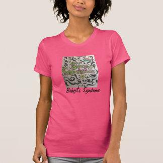 Tribal bonito com fraseio vertical traseiro tshirt