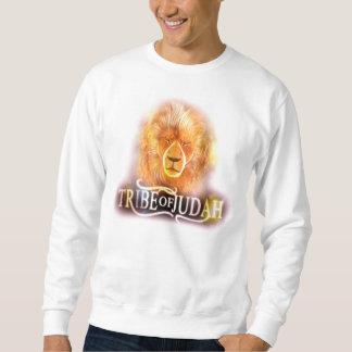 Tribo de Judah - branco longo da luva Suéter