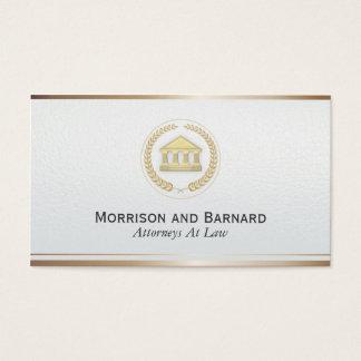 Tribunal moderno do ouro do falso do advogado do cartão de visitas