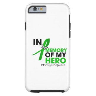 Tributo do câncer de rim na memória de meu herói capa tough para iPhone 6