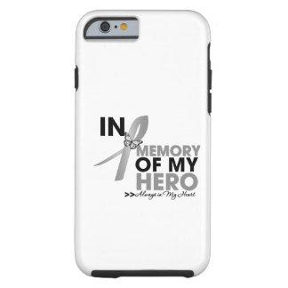Tributo do cancro cerebral na memória de meu herói capa para iPhone 6 tough