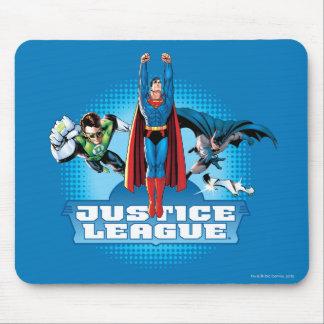 Trio do poder da liga de justiça mouse pad