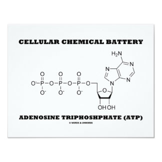 Triphosphate de adenosina químico celular da convite 10.79 x 13.97cm