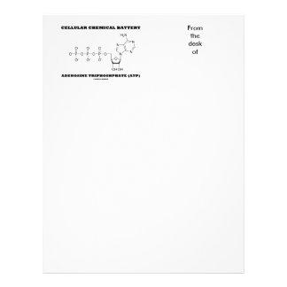 Triphosphate de adenosina químico celular da papel timbrado