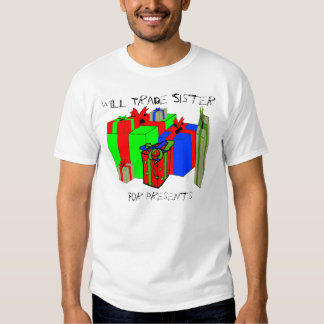 Trocará a irmã para presentes. Personalize-me! Tshirt