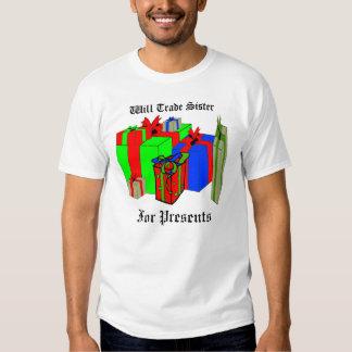 Trocará a irmã para presentes. Personalize-me! Tshirts