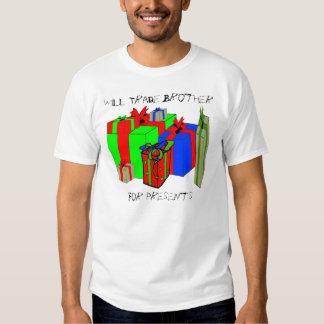 Trocará o irmão para presentes. Personalize-me! Camisetas