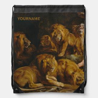 Trouxa do costume do antro dos leões' backpacks