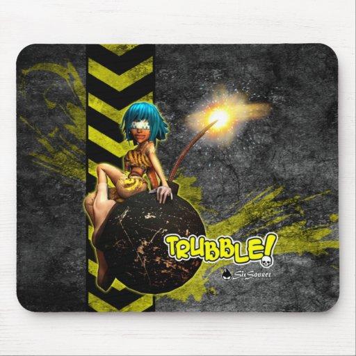 Trubble! Grunge Mousepad