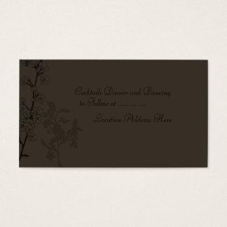 Trufa (cartão da recepção) cartão de visitas