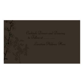 Trufa cartão da recepção cartoes de visita