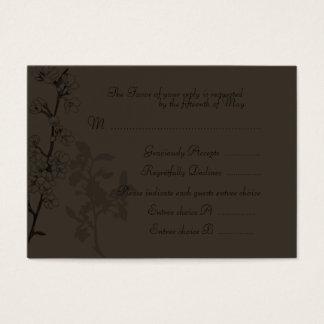 Trufa (cartão da resposta do casamento) cartão de visitas