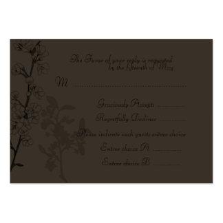 Trufa (cartão da resposta do casamento) modelo cartão de visita