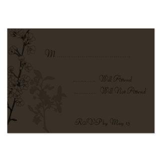 Trufa (cartão de RSVP) Modelo Cartoes De Visitas