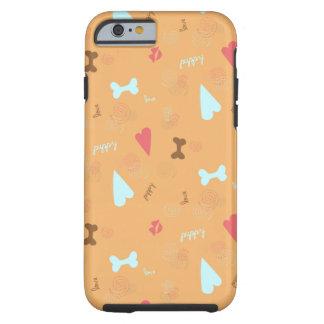 Trufa da laranja do amor de filhote de cachorro capa tough para iPhone 6