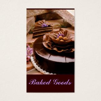 Trufa do bolo do padeiro cartão de visitas