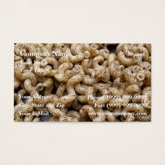 Trufa do macarrão cartão de visitas